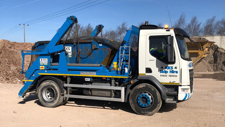 aks skip hire vehicle